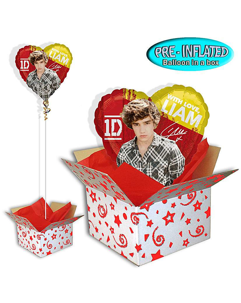 One Direction Liam Foil Balloon In A Box