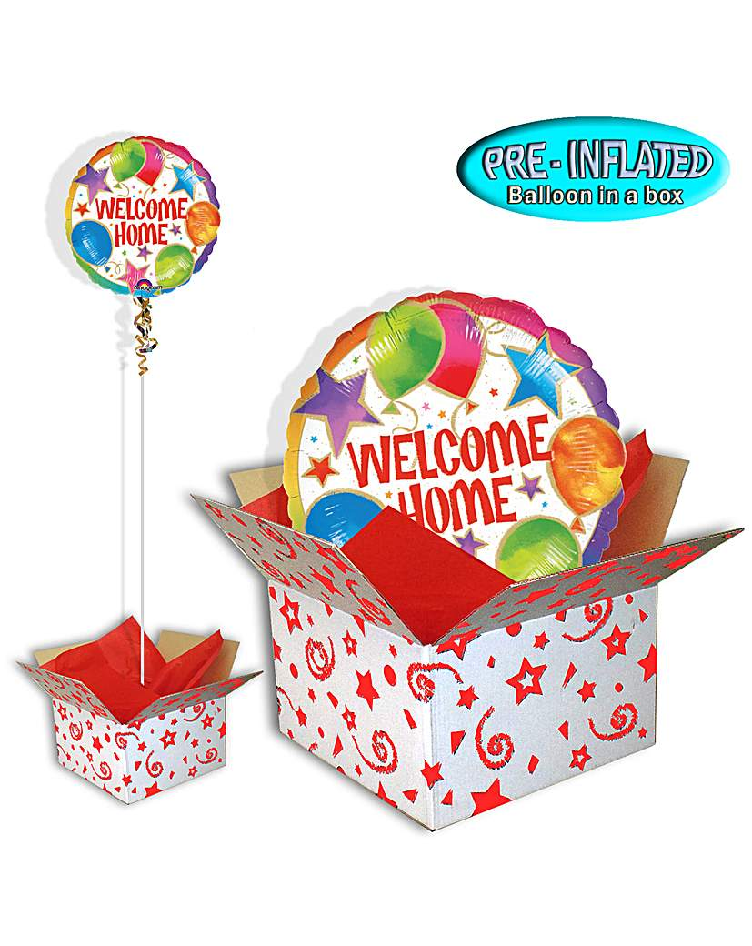 Welcome Home Celebration Balloon In Box