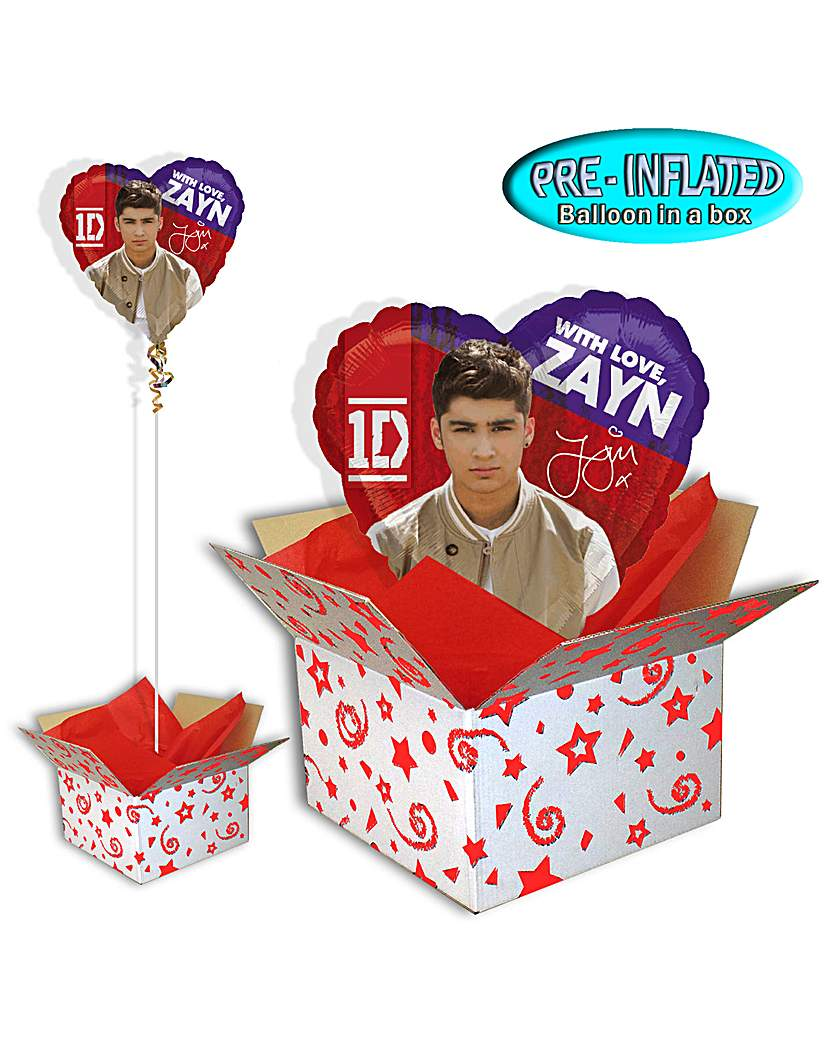One Direction Zayn Foil Balloon In A Box