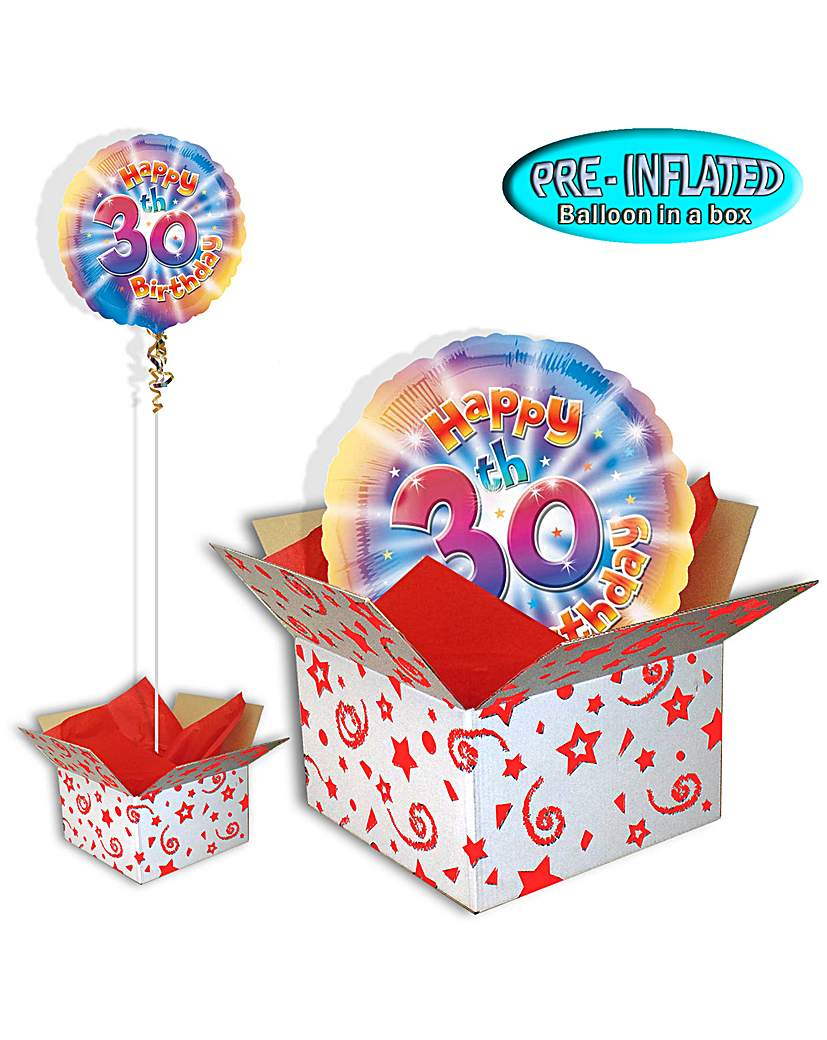 Image of Happy 30th Birthday Balloon In A Box