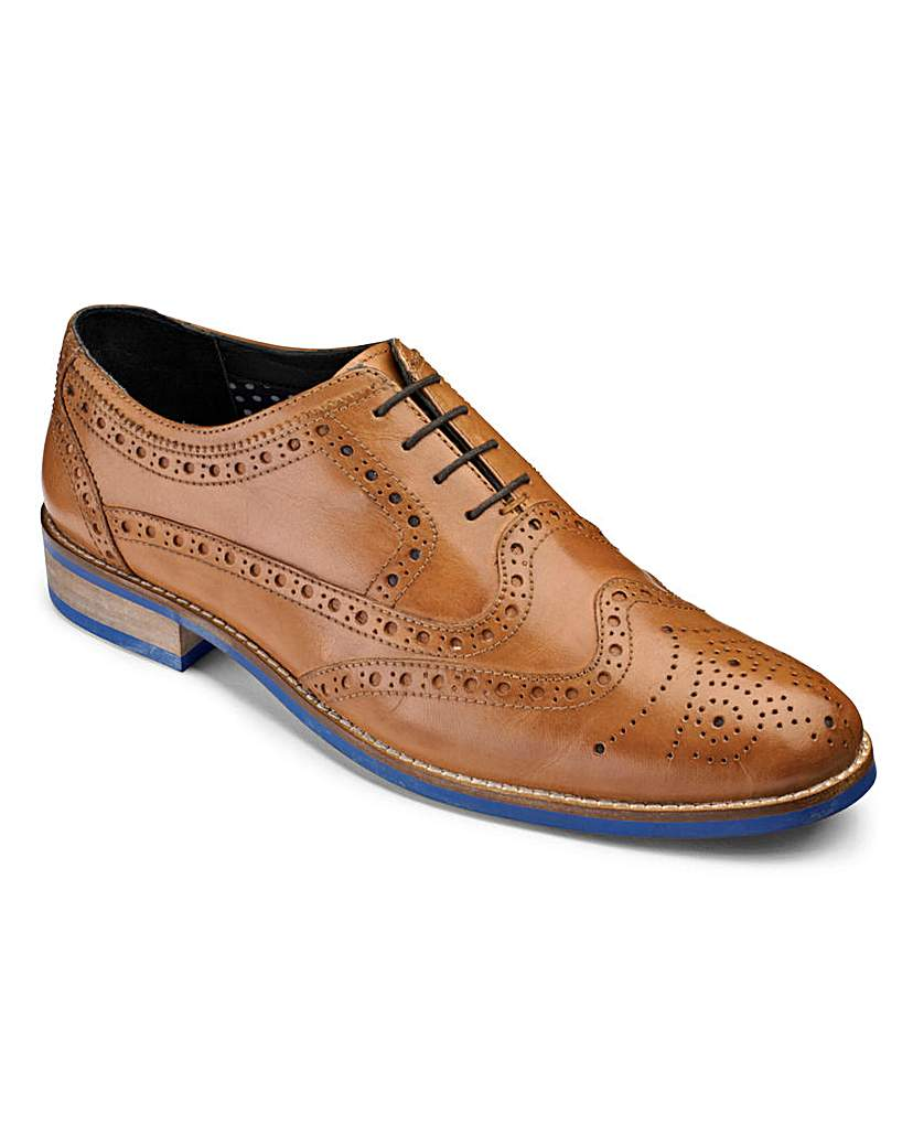 Black Label Brogue Wide Fit £55.00 AT vintagedancer.com