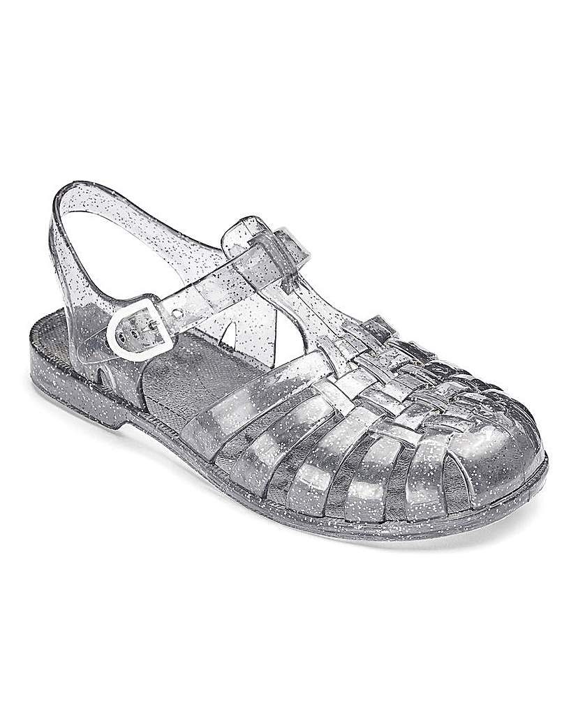 TKD Girls Sparkle Jelly Sandals.