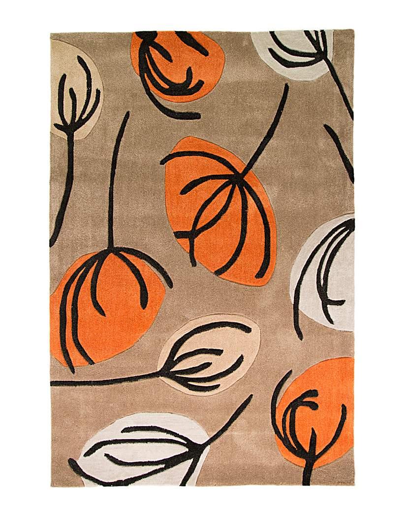 Hand-carved Multi Floral Design Rug