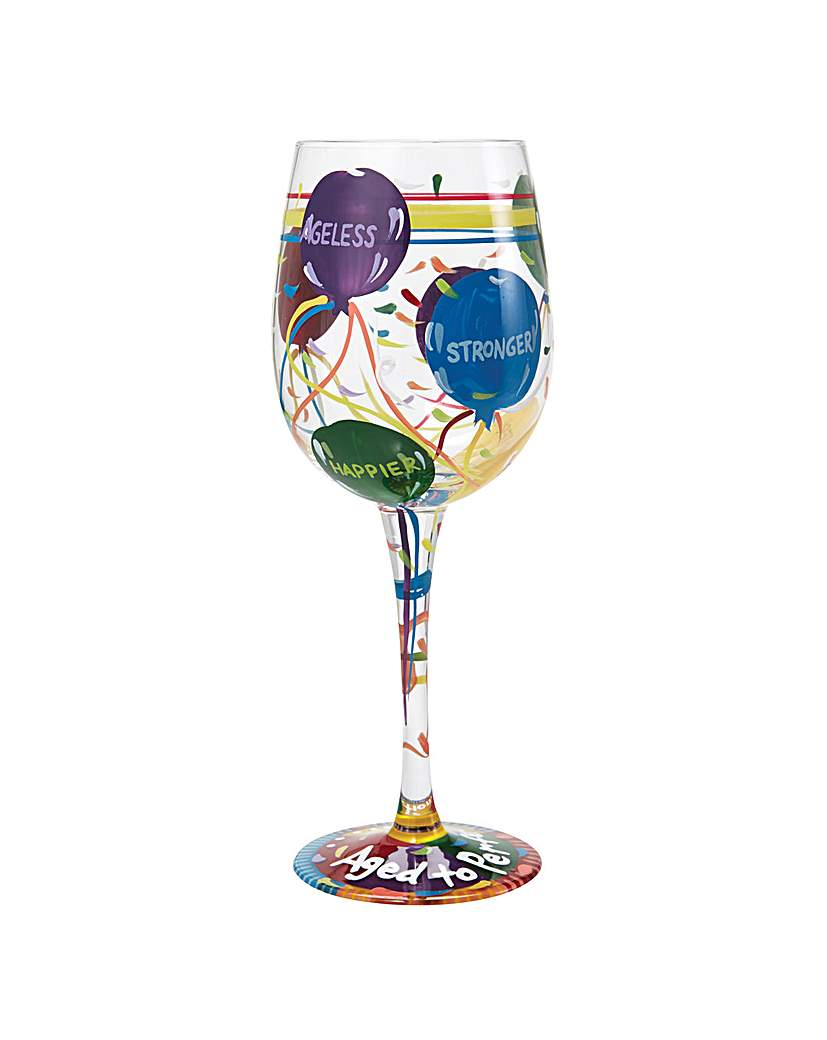 Lolita Aged to Perfection Wine Glass.