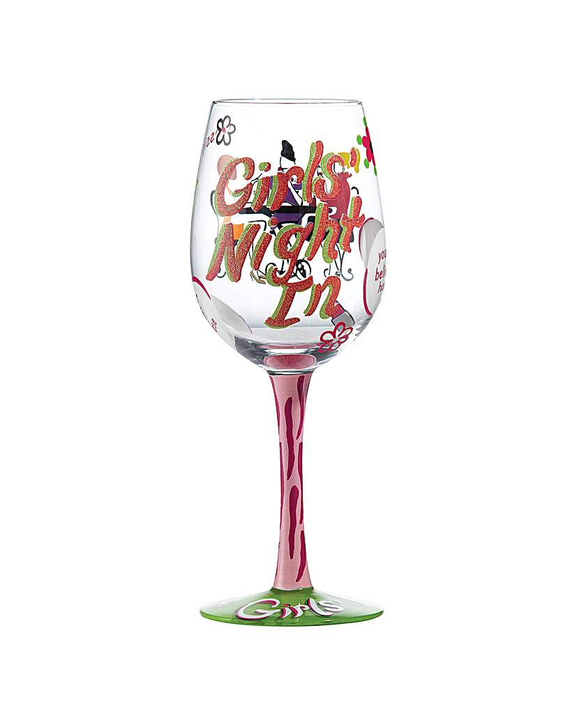 Lolita Girls Night In Wine Glass.