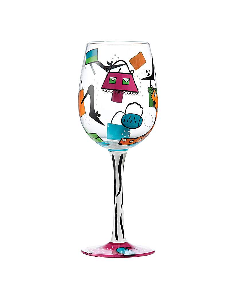 Lolita Shopaholic Too Wine Glass.