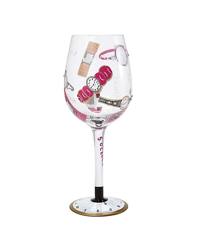 Image of Lolita 5 O'clock Somewhere Wine Glass