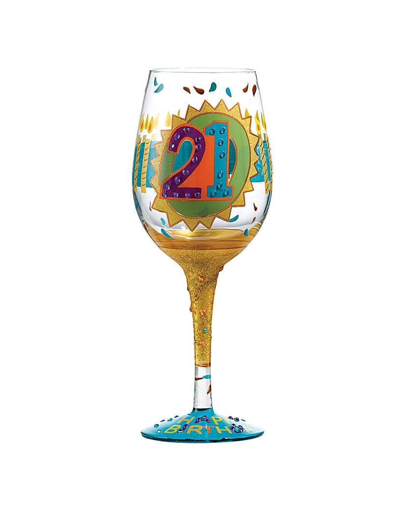 Lolita 21st Birthday Standard Wine Glass.