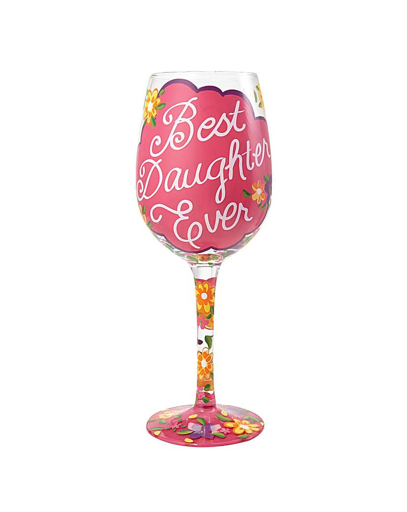 Image of Lolita Best Daughter Ever Wine Glass
