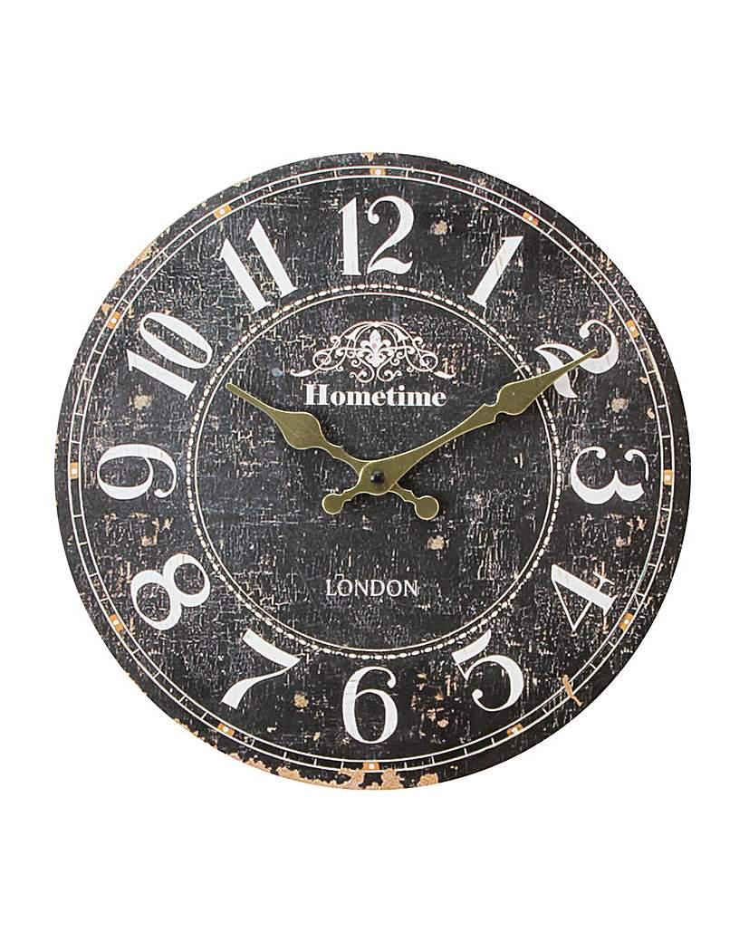 Hometime Rustic Wall Clock 30cm.