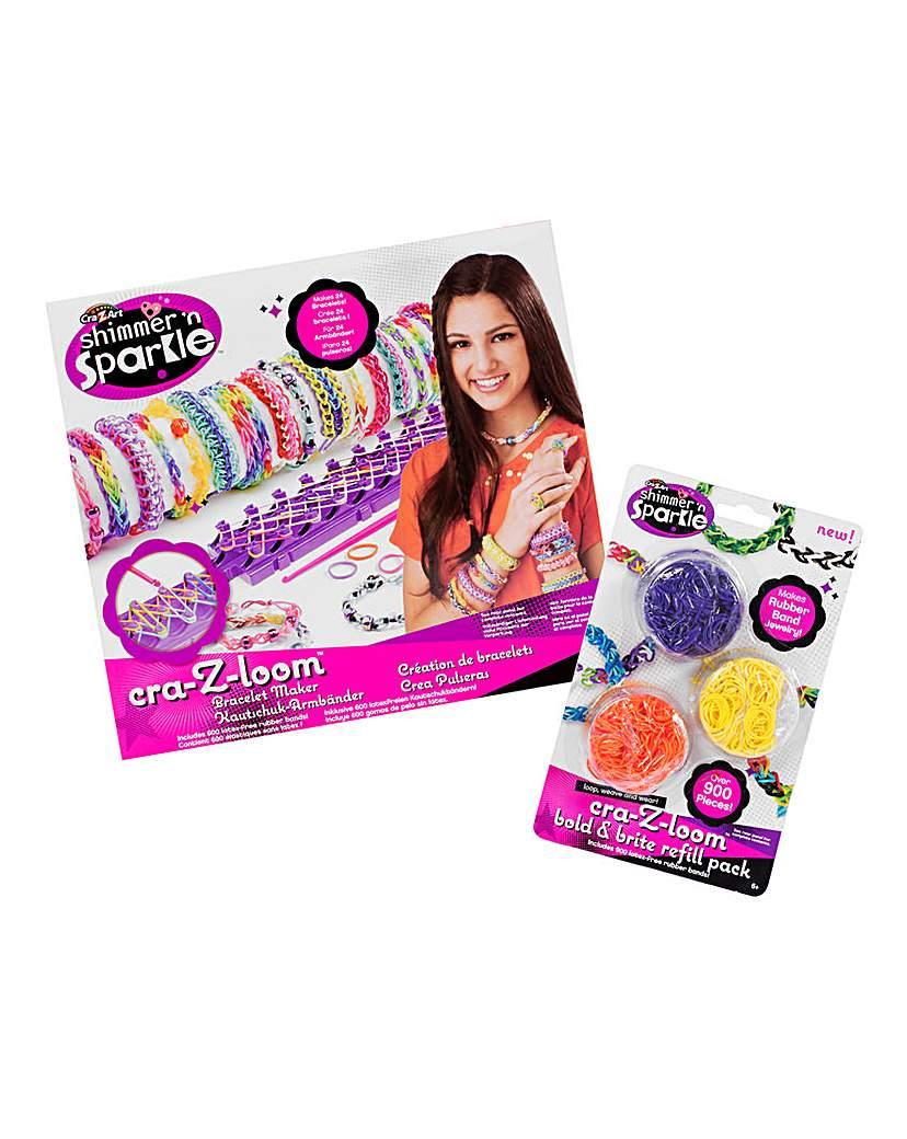 Image of Cra-Z-Loom Bracelet Maker & 900 Bands