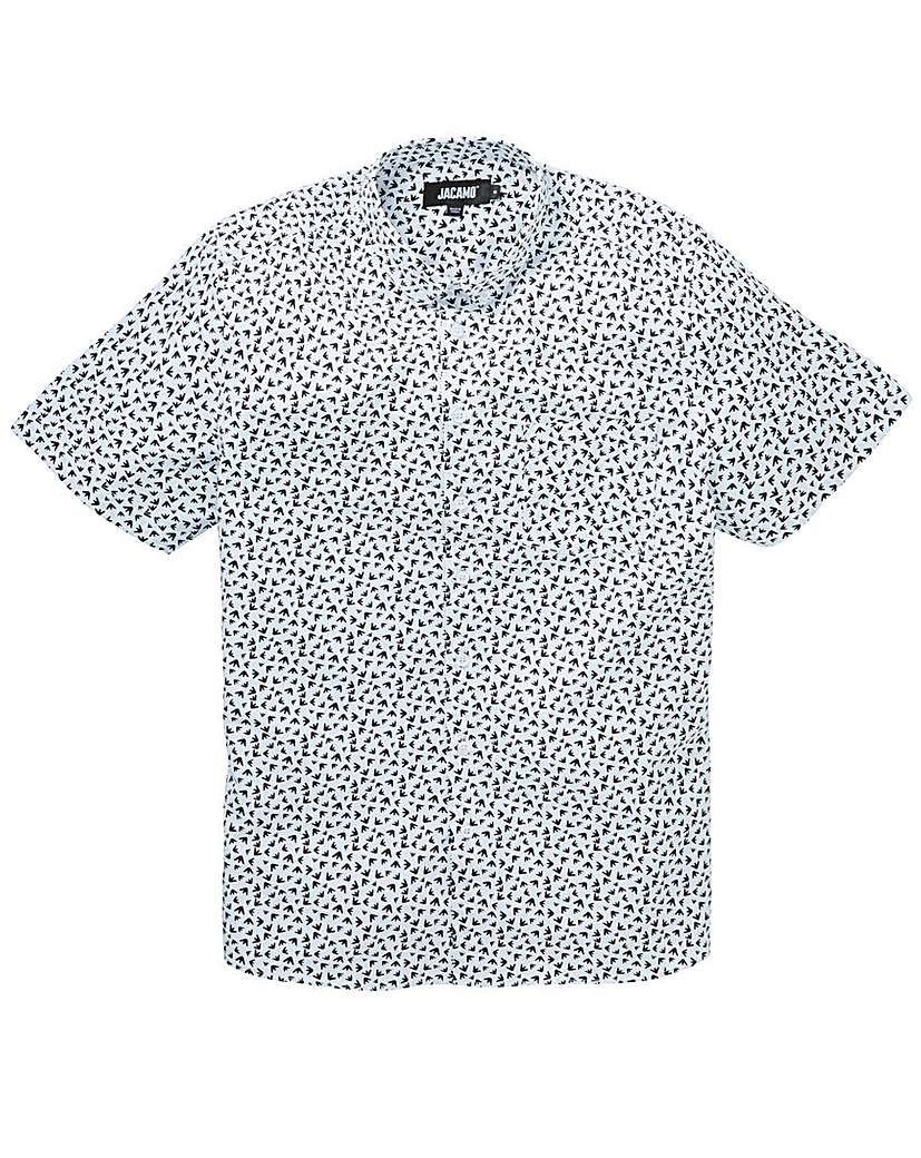 Jacamo Birds Feet S/S Printed Shirt Long