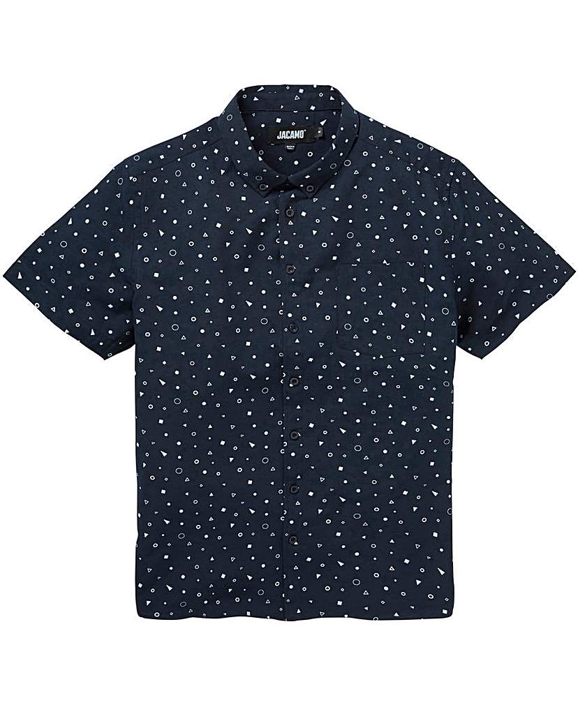 Jacamo Geo S/S Printed Shirt Long.