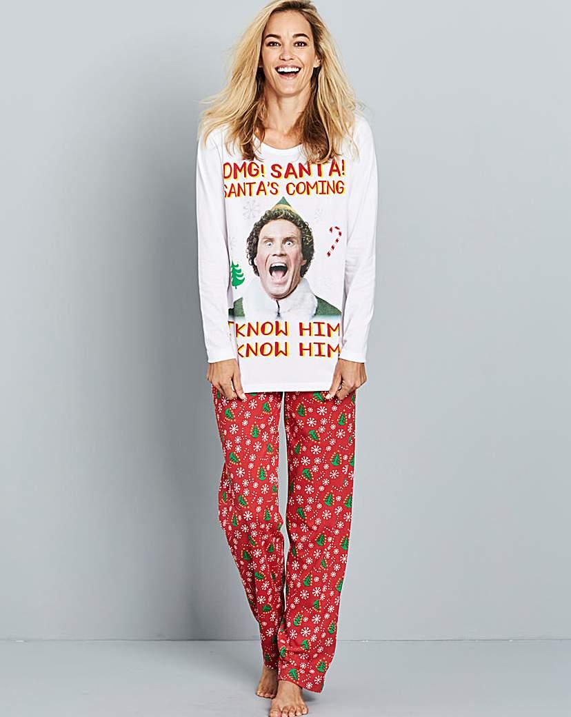 Elf 'Santa's Coming' Pyjama Set