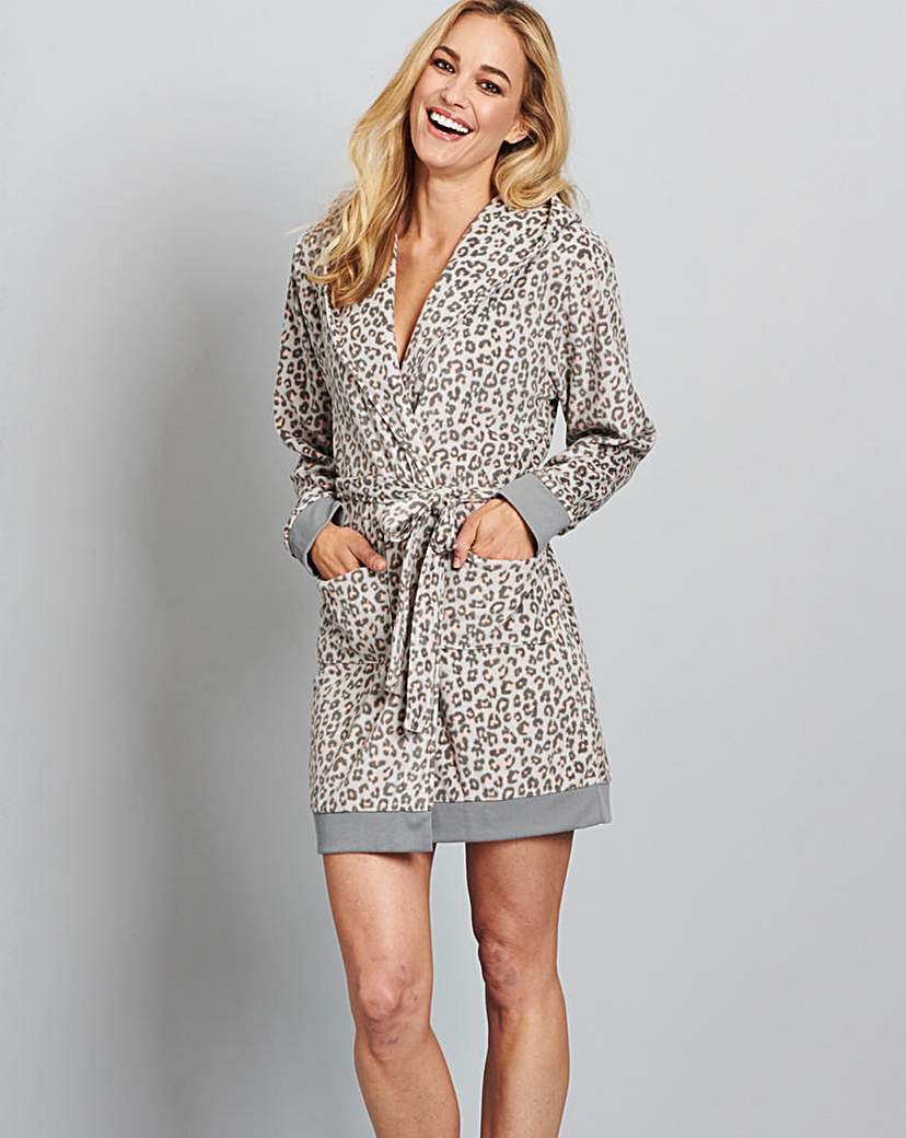 Pretty Secrets Ribbed Fleece Gown.