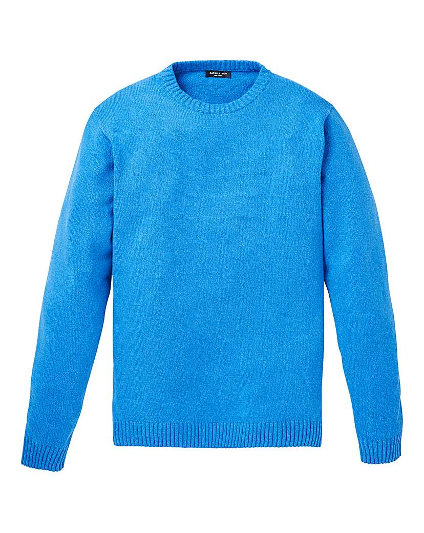 Capsule Blue Crew Neck Cotton Jumper L