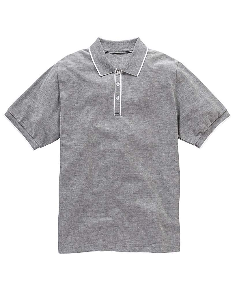 Jacamo Piped Placket Polo Regular.