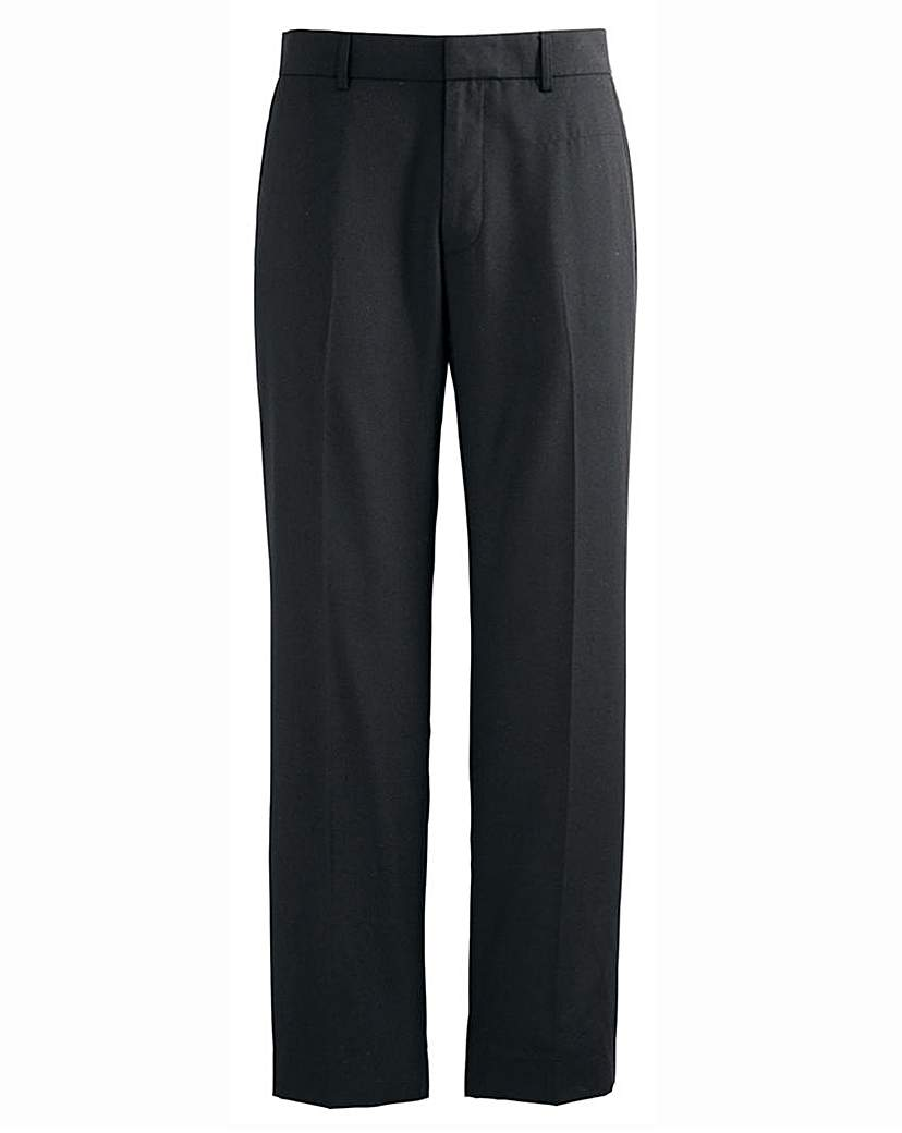 Image of Jacamo Black Tapered Leg Trouser 27In