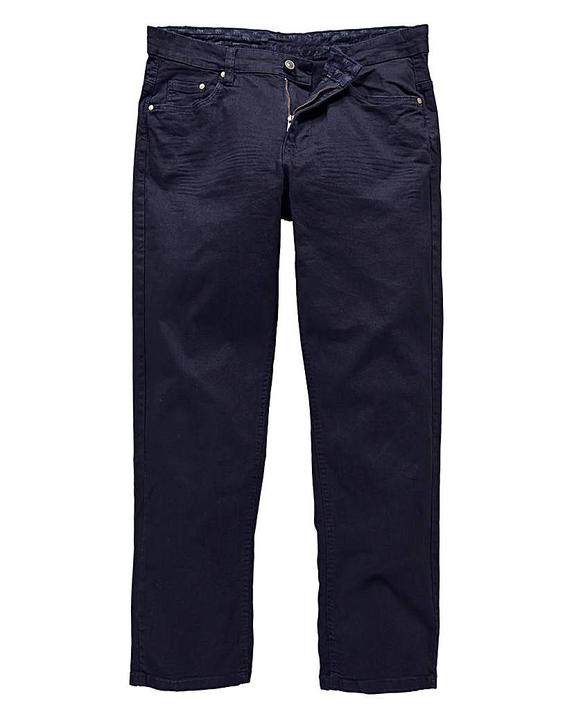 UNION BLUES Navy Gaberdine Jeans 29in.