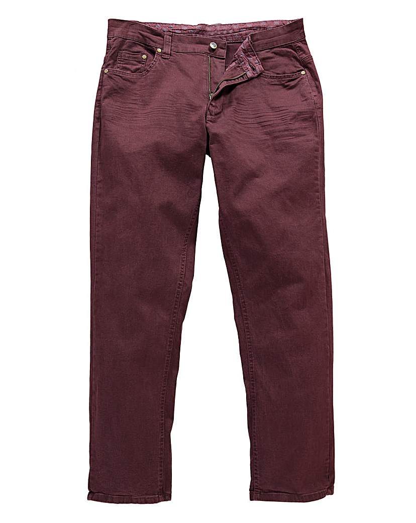 UNION BLUES Wine Gaberdine Jeans 27in at Jacamo