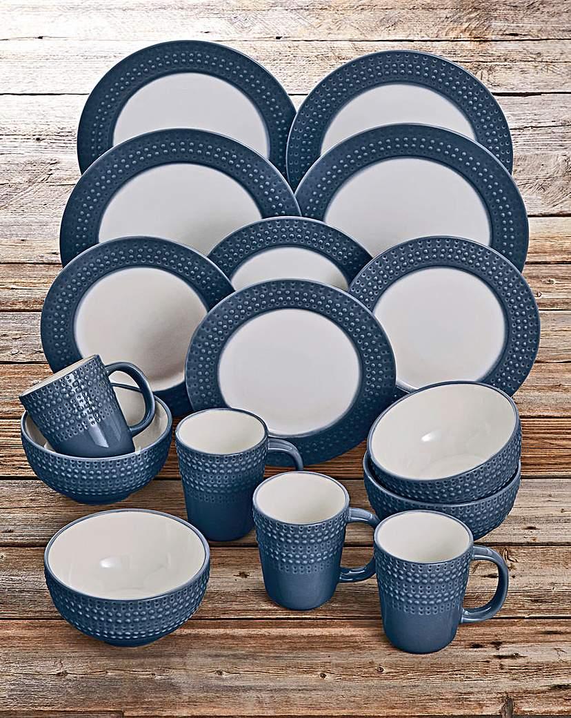 Image of Denby 16 Piece Intro Dinnerset Dark Blue