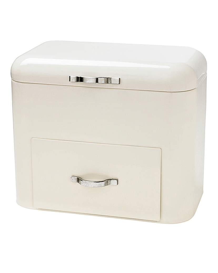 Image of Bread Bin With Drawer Cream