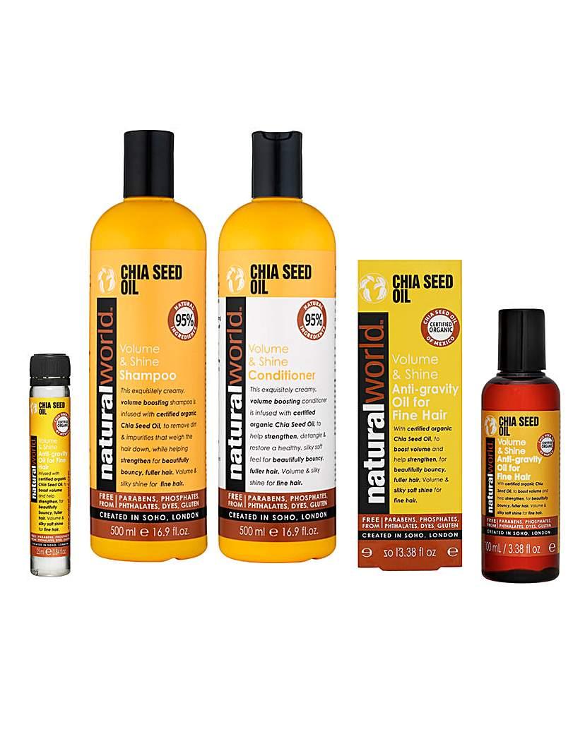 Image of Chia Seed Volume & Shine Hair Care Set