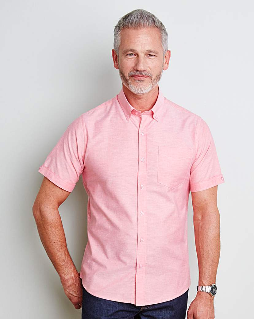 Image of Capsule S/S Pink Oxford Shirt Long