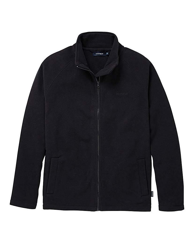 Image of Southbay Unisex Black Zip Through Fleece