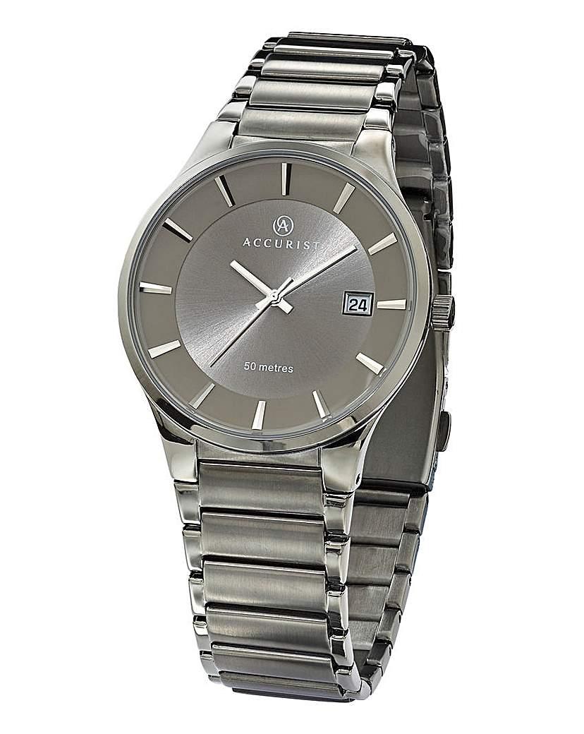 Image of Accurist Gents Slim Grey Bracelet Watch