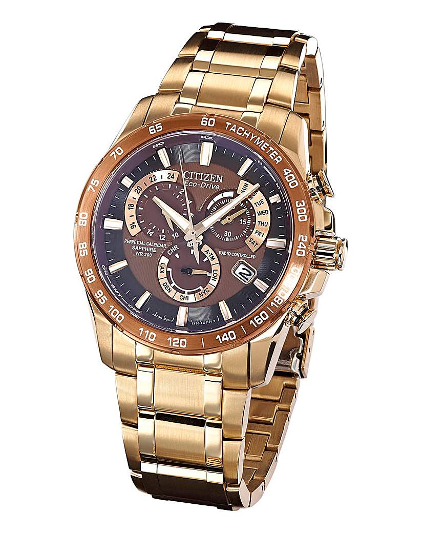 Image of Citizen Eco-Drive Rose and Brown Watch