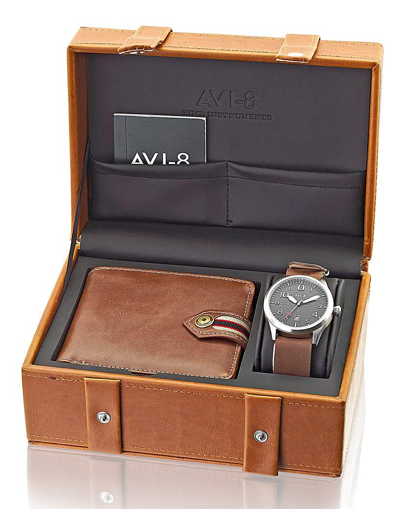 Image of AVI-8 Gents Watch and Wallet Gift Set