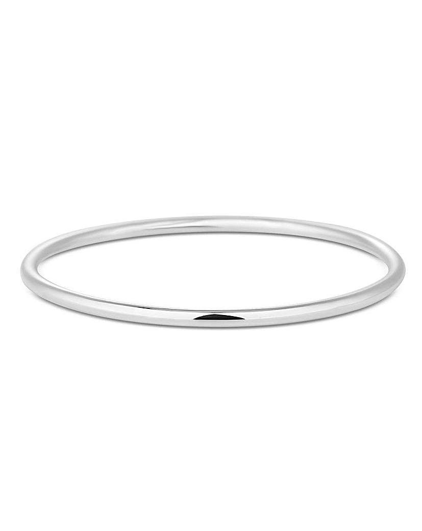 Simply Silver Classic Polished Bangle