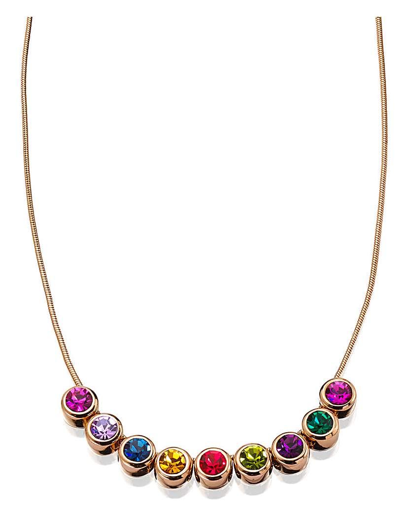 Multicolour Swarovski Crystal Necklace