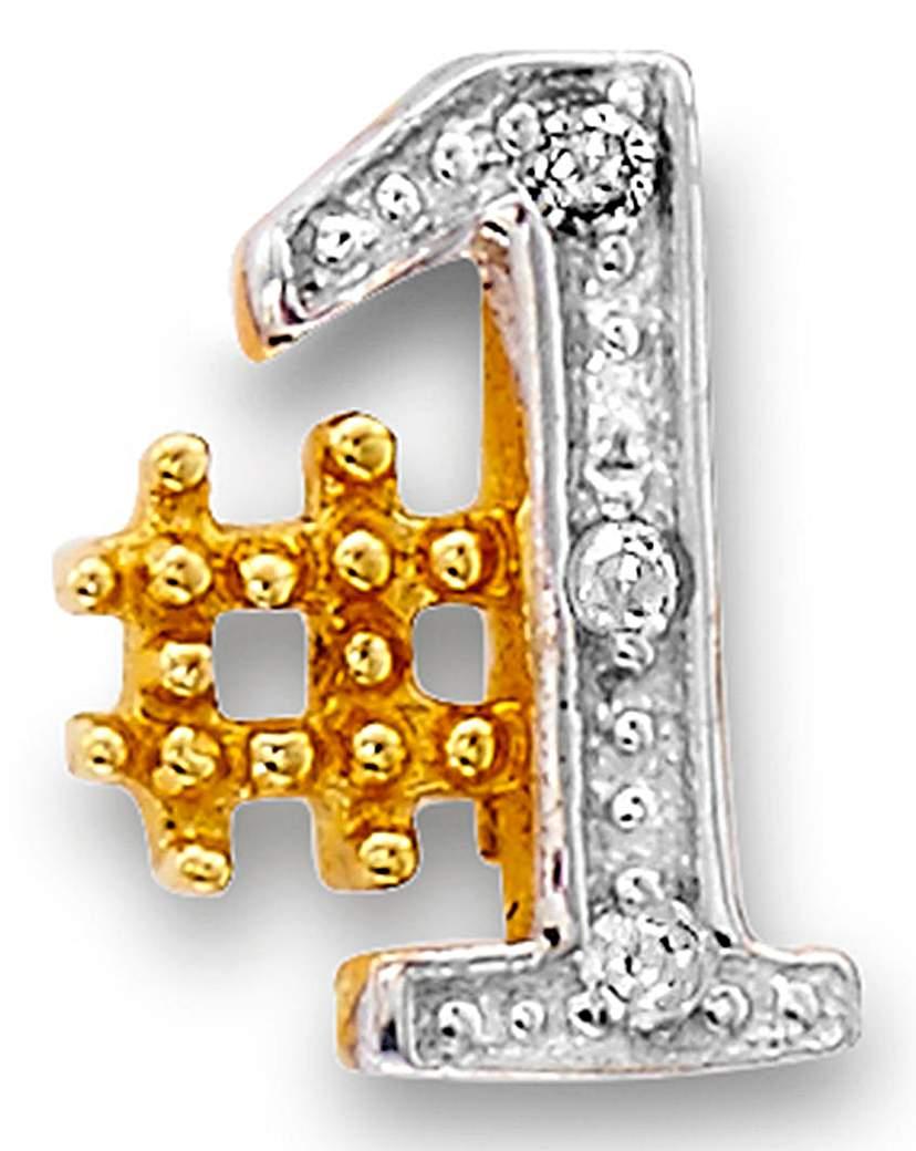 9 Carat Gold Gents #1 Stud Earring
