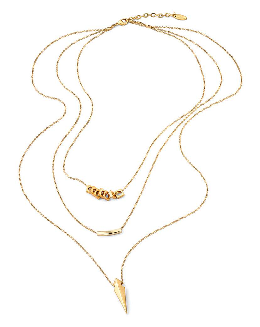 Fiorelli Triple Layered Necklace