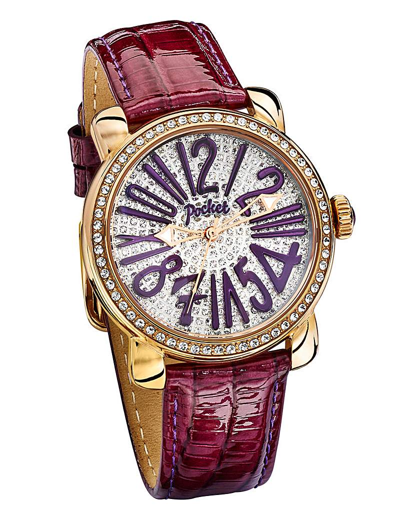 Pocket Rose Gold and Crystal Watch