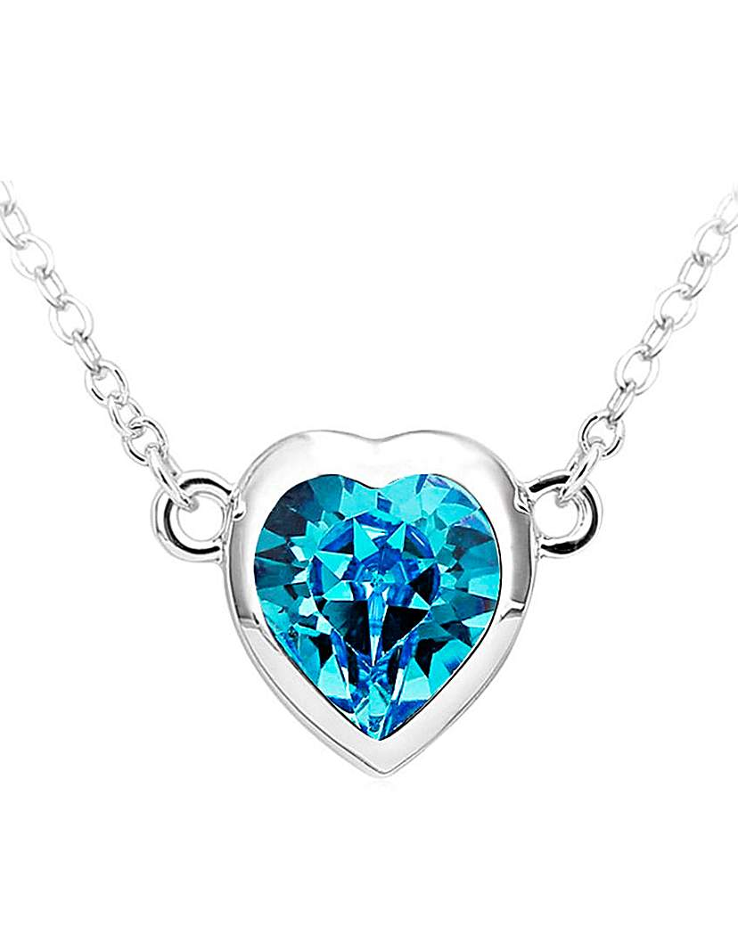 Spangles Blue Crystal Heart Pendant