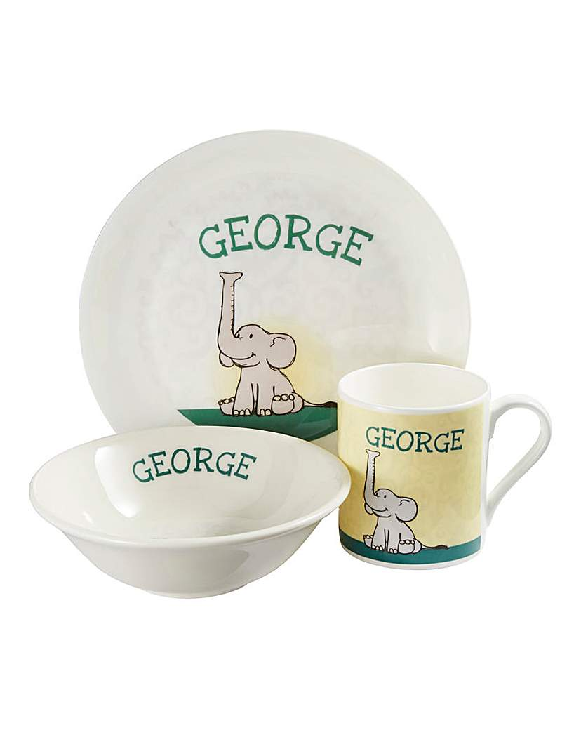 Image of Personalised Elephant Breakfast Set