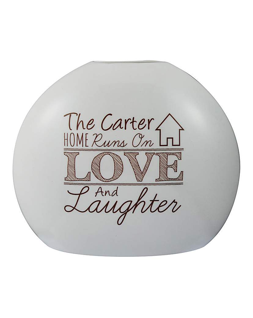 Personalised Love and Laughter Vase