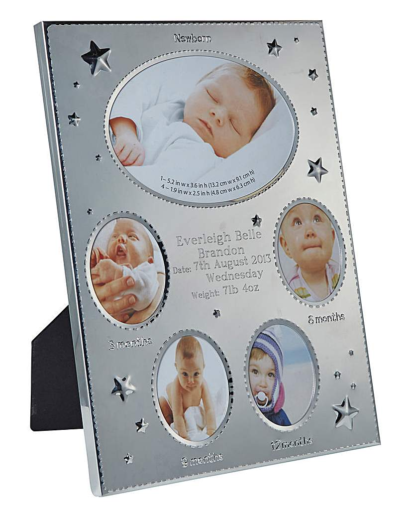 Image of Baby's Personalised First Year Frame