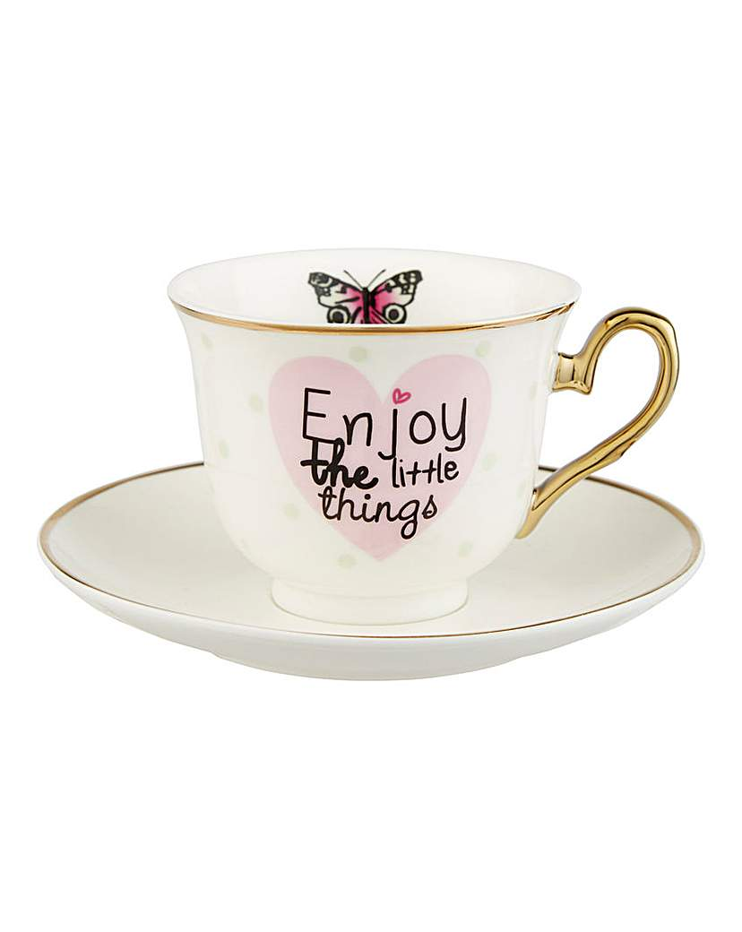 Image of Enjoy the Little Things Cup and Saucer
