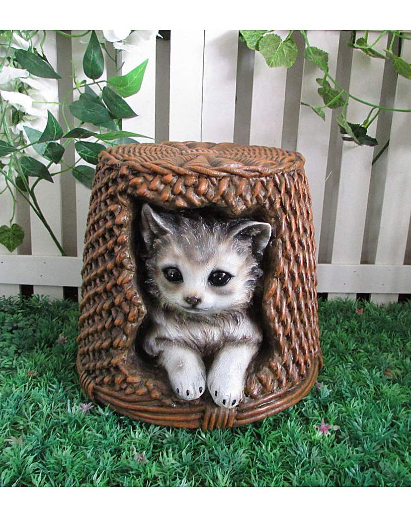 Image of Cat and Vine Basket