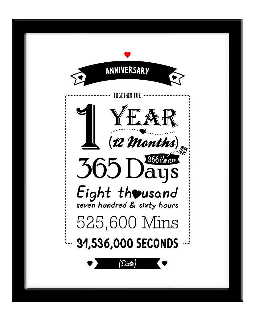 Image of Personalised Framed Anniversary Print