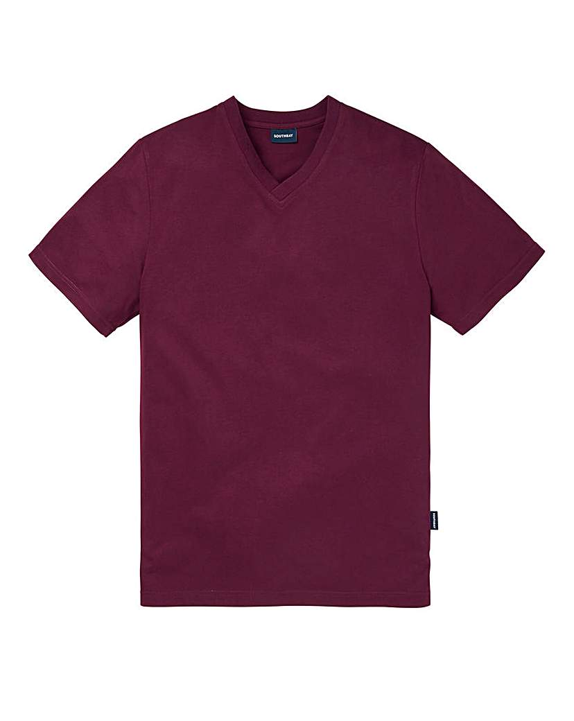 Southbay Unisex Plum V Neck T-Shirt