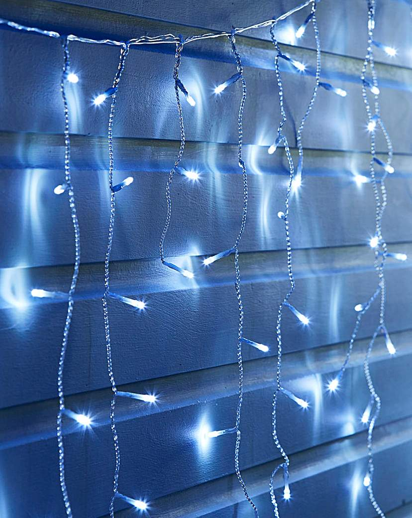 Image of White Snowing Icicle Lights