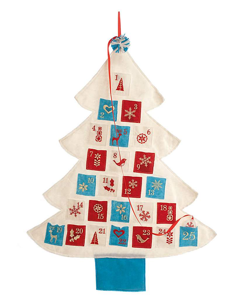 Felt Christmas Tree Wall Advent