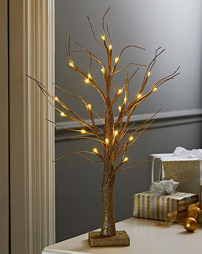 Image of Table Top LED Glitter Tree