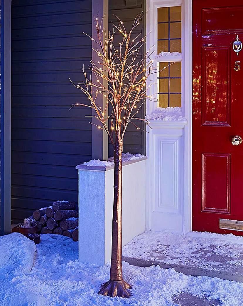 Copper LED Twig Tree