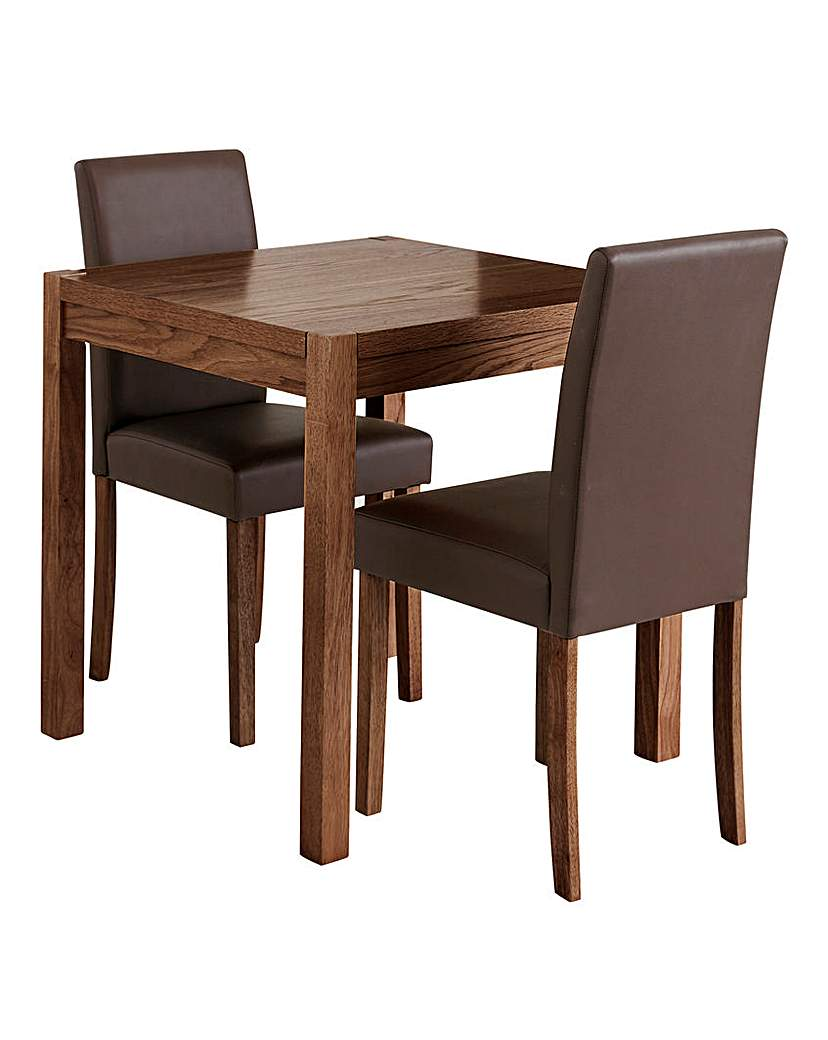 oakham dining table and 2 mia chairs an essential oak veneer dining